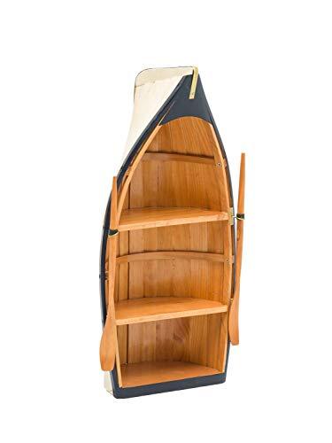 Barca scaffale Barca di Legno Mensola Nave Decorazione Marittima Cabinet 62
