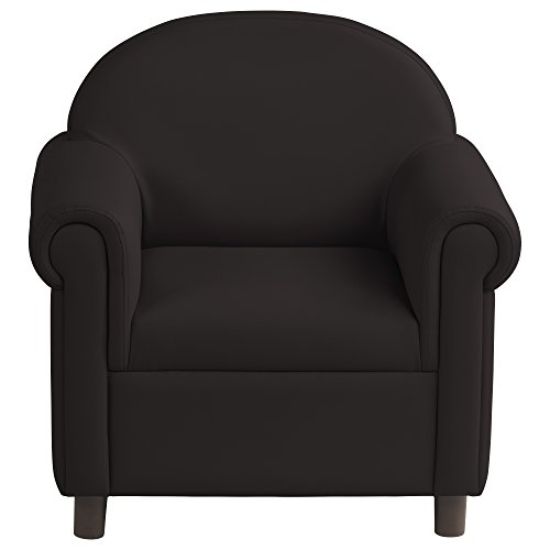 ECR4Kids ELR-15658-BK SoftZone Little Lux Upholstered Youth Chair for Kids Room, Black
