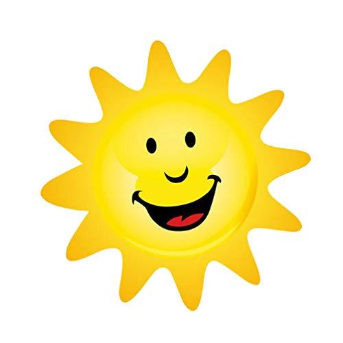 BESPORTBLE Lächelnde Sonne Wandaufkleber Cartoon Sonne Tapete Lustige Wandtattoo Dekoration für Kindergarten nach Hause Kinder Kinderzimmer