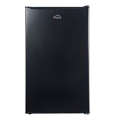Walsh WSR35BK Compact Refrigerator, Single Door Fridge, Adjustable Mechanical Thermostat with Chiller, Reversible Doors, 3.5 Cu.Ft, Black