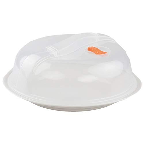 Grunkel - MICROTOP-01 - Tapadera de plástico para microondas. Compatible con todo tipo de microondas, evitar el uso en modo Grill ó Hornos - Plástico transparente