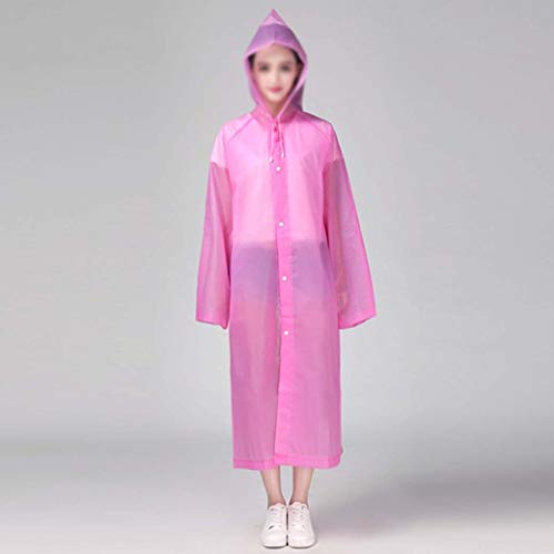 DongYuXuXi mode Eva vrouwen regenkleding verdikt waterdicht regenjas vrouwen helder transparant tour waterdicht regenkleding pak roze