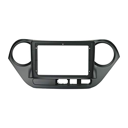 ZHANGXL XELIAN 9 Pulgadas 2din Coche Fascia Fit para Hyundai i10 2014-2017 (Rueda Izquierda) Doble DIN Car DVD Frame Panel In-Dash Mount Installacion (Color Name : Left Wheel Frame, Size : 9 Inch)
