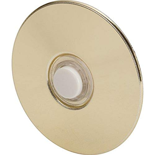 Newhouse Hardware BR5W Unlighted Doorbell Button, 1-Pack, Brass