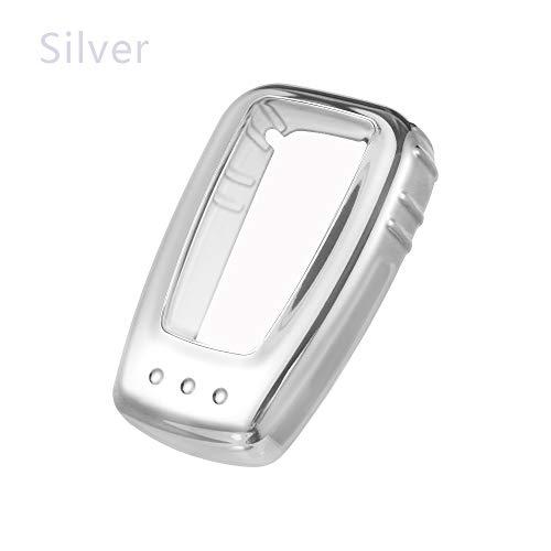 Rutschfrei Halter der Folie Platin Shell Soft Cover TPU Autoschlüssel Case Schutzeinrichtung(Silver)