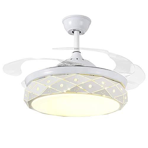 Nordico Ristorante Plafondventilator, eenvoudig en modern, woonkamer, slaapkamer, met eenvoudige led-plafondlamp T-D