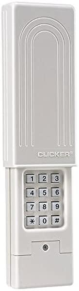Chamberlain Group Clicker Universal Keyless Entry KLIK2U P2 Works With Chamberlain LiftMaster Craftsman Genie And More Security 2 0 Compatible Garage Door Opener Keypad White