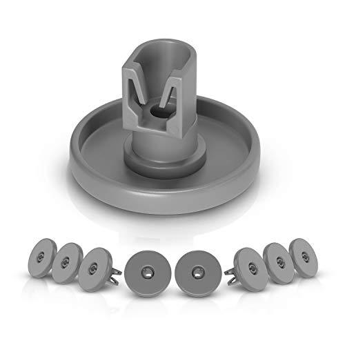 Juego de 8 ruedas de repuesto para Electrolux 5028696500/4 para cesta inferior de lavavajillas