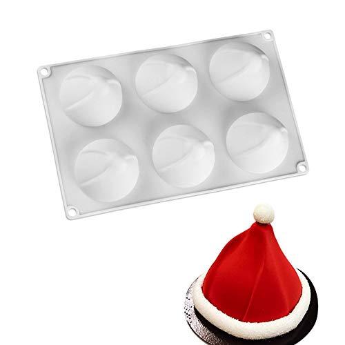 Romote Moule Mousse Silicone 3D Swirl Forme De Noël Chapeau De Gâteau Moules De Cuisson Moule Chapeau De Père Noël Moule Moule en Silicone De Cuisson 1 Pc Fournitures