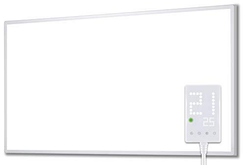 Heidenfeld Infrarotheizung HF-HP100 800 Watt Weiß - inkl. Thermostat - 10 Jahre Garantie - Deutsche Qualitätsmarke - TÜV GS - Für 12-19 m² Räume (HF-HP100 800 Watt)