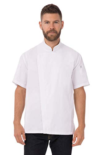 mens short sleeve chef coat - 2