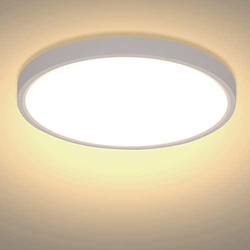 Lámpara de Techo Modernas LED 24W 2520LM - Plafon LED Techo Blanco...