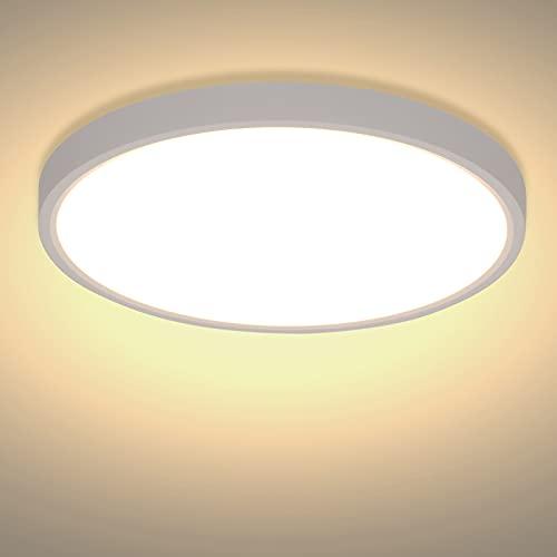 Plafoniera LED Soffitto 24W 2520LM - Lampada Soffitto Moderno Bianco Caldo 3000K Pannello LED Luce Rotonda Ø30 cm per Camera da Letto Cucina Salone