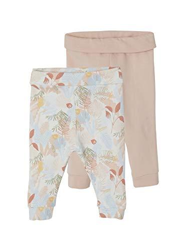 Vertbaudet - Juego de 2 leggings para bebé niña (71 cm), color rosa