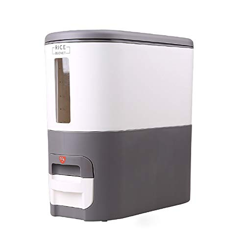 DIAOD 6Kg Rice Dispenser Rice Storage Container Metering Rice Cylinder Moisture Proof Insect Proof Sealed Rice Barrel