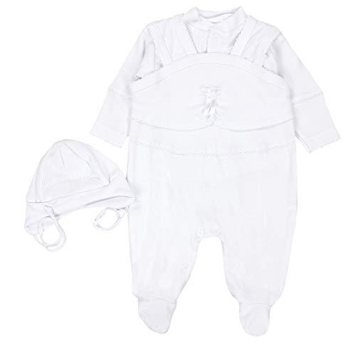 TupTam Unisex Baby Taufbekleidung 3-TLG. Set, Farbe: Weiß/Unisex, Größe: 68