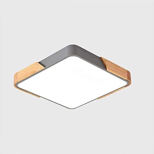 Dormitorio Moderno y agrave de Luces de Techo LED;Sunset Regulable Carr & oacute;Luz de Techo Sala de Estar Lámpara de Techo de Madera Creativa Balcón 36W Pantalla de acrílico de