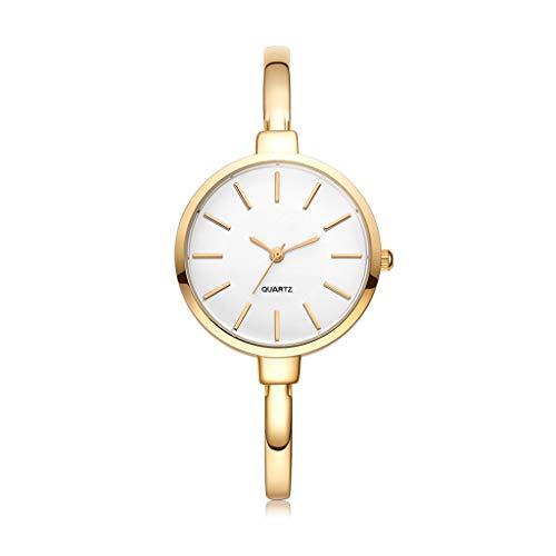 Women Bracelet Watches Fashion Quartz-Watches Ladies Casual Dress Sport Watch Clock Rose Gold (Color : Gold, Size : A)