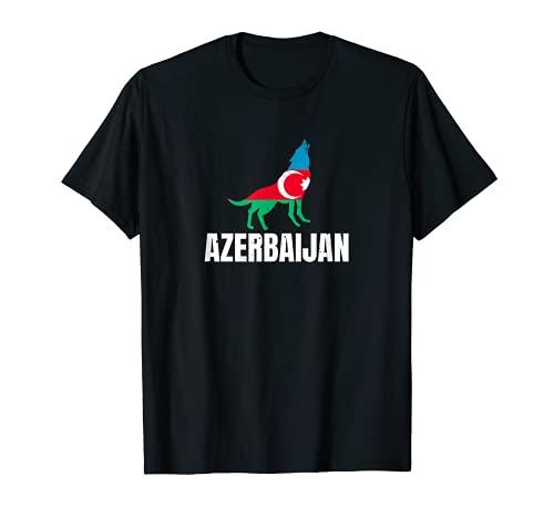 Azerbaijan Flagge mit Wolf Aserbaidschan T-Shirt