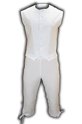 M&G Atelier Weste und Hose Soldat DICK!!! Napoleon Karnevalskostüm Uniform Fasching Theater Gehrock (58, Weiß)