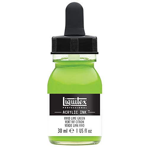 Liquitex Professional Encre Acrylique Flacon Avec Pipette 30 ml Vert Vif Citron