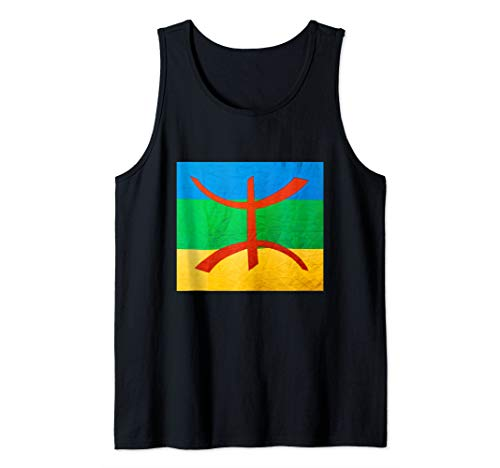 Berber amazigh T-shirt Nordafrika-Flagge Tank Top