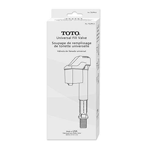 TOTO TSU99A.X Adjustable Replacement Fill Valve Assembly for Toilet Tanks, Unfinish