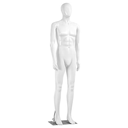 Adjustable Male Mannequin Full Body - 73' Detachable Male Dress Form Full Body Mannequin Poseable Life Size Mannequin Torso - Great for Retail Shops and Clothing Shops - SereneLife SLMAQML