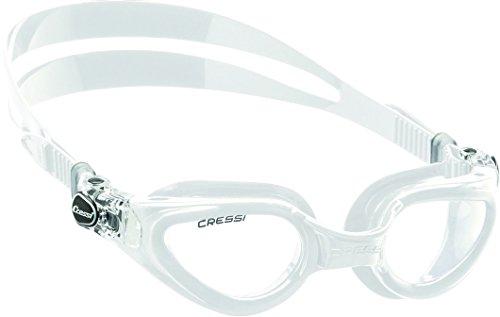 Cressi Premium Gafas de Natación para Adulto, Right, Blanco/Lentes Claros