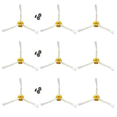 MIRTUX Pack Esencial de 9 cepillos Laterales compatibles con Roomba 800 y 900. Kit de 3 aspas astas. Repuestos de Calidad.