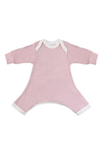 Hip-Pose Baby-Strampler/Strampelanzug mit langen Ärmeln für Spreizhose und Gipshosen für Neugeborene 0-3 Monate, pink