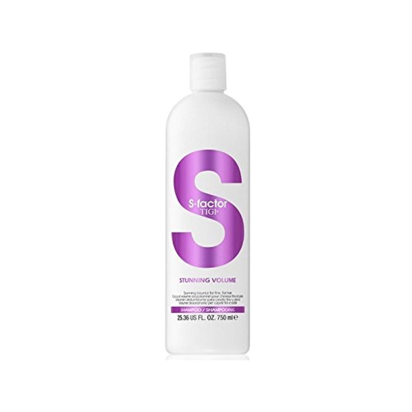 繕う構成ミントティジーファクター見事なボリュームシャンプー750ミリリットル x2 - Tigi S-Factor Stunning Volume Shampoo 750ml (Pack of 2) [並行輸入品]