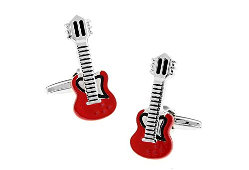 Ashton and Finch Red Electric Guitar Cufflinks| Perfect Gifts for Men's Birthdays, Weddings And Special Occasions | Personalised Cufflinks For Men