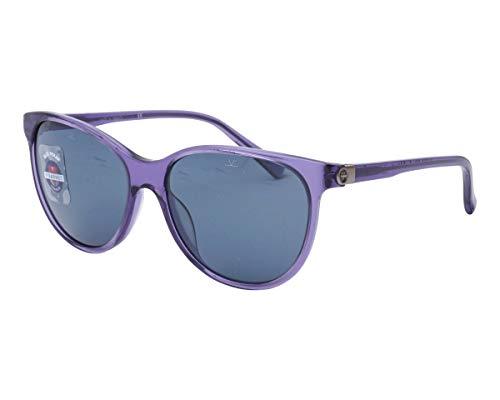 Vuarnet VL151600040622 Sunglasses Transparent Purple Frame PX1000 Blue Mirror Polarlynx Lens