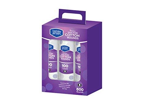 Berkley and Jensen Premium Cotton Rounds - 100 Count, 6 pk.