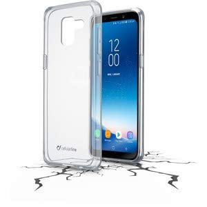Cellularline Clear Duo - Galaxy A8 (2018) Paar mit hohem Schutz, transparent