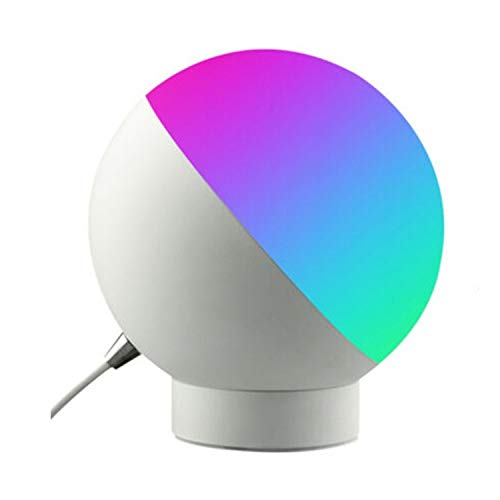 Viudecce LáMpara de Escritorio Inteligente LED Wifi Control Remoto por Voz Luz Nocturna LáMpara de Escritorio con ProteccióN Ocular LED Enchufe Redondo de la UE