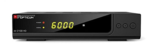 Opticum AX C100 HD DVB-C Digital Kabel Receiver (HDTV, DVB-C, HDMI, SCART, PVR, USB) schwarz