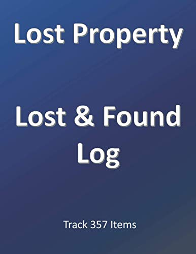 Lost Property Lost & Found Log Track 357 Items: Large Size To...