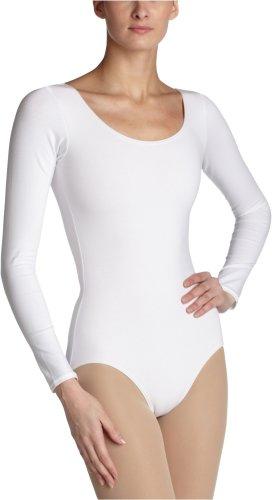 Capezio Women's Long Sleeve Leotard,White,Medium