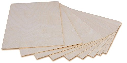 Creative Deco 10 x A6 Holz-Platte | 148 x 105 x 3 (+/- 0,5) mm | Dünne Sperrholz-Zuschnitte | Perfektes Blatt für Laubsäge, Brandmalerei, Laserschnitt, CNC Router, Durchbrochenes