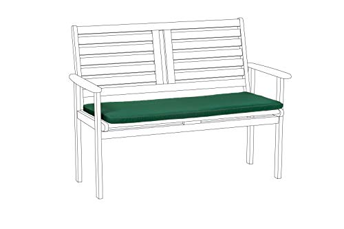 Gardenista Garden Chair Seat Pad   Indoor & Outdoor Seating Cushion Pillow   Green Piping   Water Resistant   Lightweight & Comfy   103cm x 48cm (1 Piece (Large, Green)