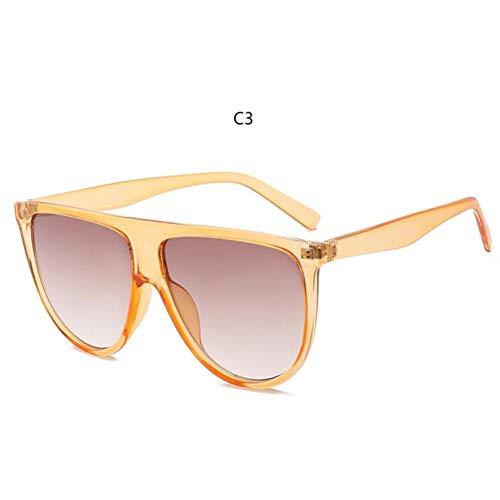 LETAM Gafas de sol Gafas de Sol Finas y Planas para Mujer Retro Vintage Gafas de Sol para Mujer Gafas de Sol Kim Kardashian Cristal Transparente