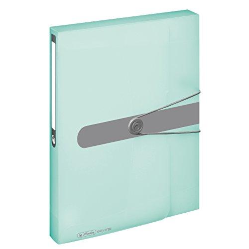 Herlitz 11409000 Sammelbox, A4, PP-Folie minze, transparent
