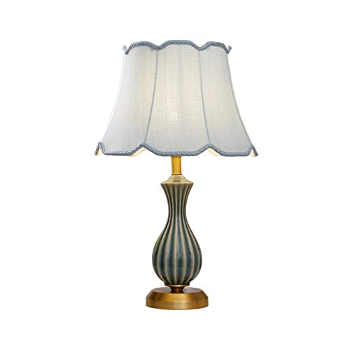 Lámparas de Mesa Lampara mesita noche Lámpara de mesa de cerámica dormitorio al lado de la cama de cobre de la mesa de la mesa de la mesa de la mesa de la mesa de la mesa de la mesa de la mesa de la s