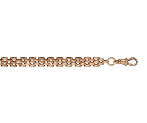 9ct oro rosso/rosa Panther 140,6cm/40cm collana