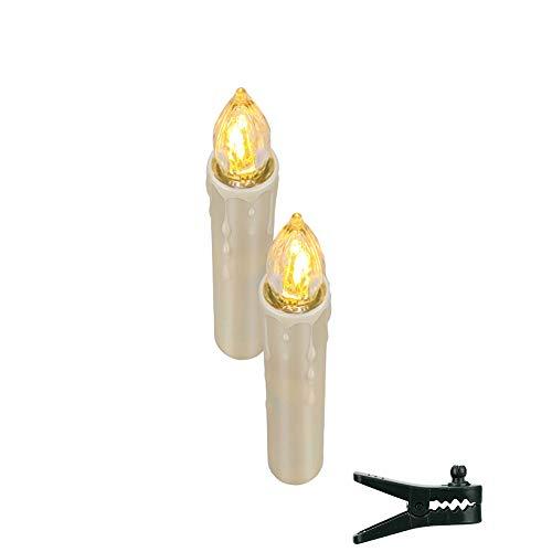 2 Set LED-Kerzen warmweiß mit Fernbedienung Weihnachtsbaumkerzen, für Weihnachten, Weihnachtsbaum, Hochzeit, Votiv, Hochzeitsdeko, Partys