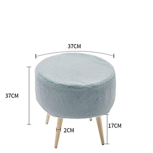 THMJIE Make-up-Stuhl Haushalts Doorway ändern Schuh Bank Eingang Schuhbank Bettfußbank Hocker Nordic Garderobe Sofa Hocker Licht Kleine Hocker Schuhe Bench (Color : Blau)