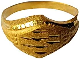 Certified Solid 22K/18K Yellow Fine Gold Carved Design Kids Ring Size-1 Available In 22 Carat And 18 Carat Fine Gold For Gifts,Kids,Childrens,Baby Boy,Baby Girl,Infant,Celebrations & Regular Use