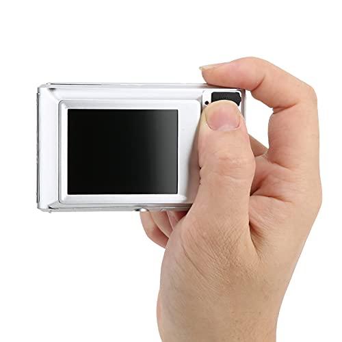 Nunafey Fotocamera per Bambini, Fotocamera Digitale, Portatile per Bambini Principianti(d'Argento)